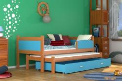 Twist2 Fa kétszemélyes kihúzható ágy-gyerekágy 2.Kép