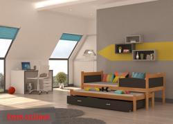 Twist2 Fa kétszemélyes kihúzható ágy-gyerekágy 3.Kép