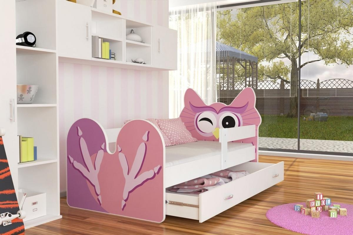 Birdie leesésgátlós gyerekágy ágyneműtartóval