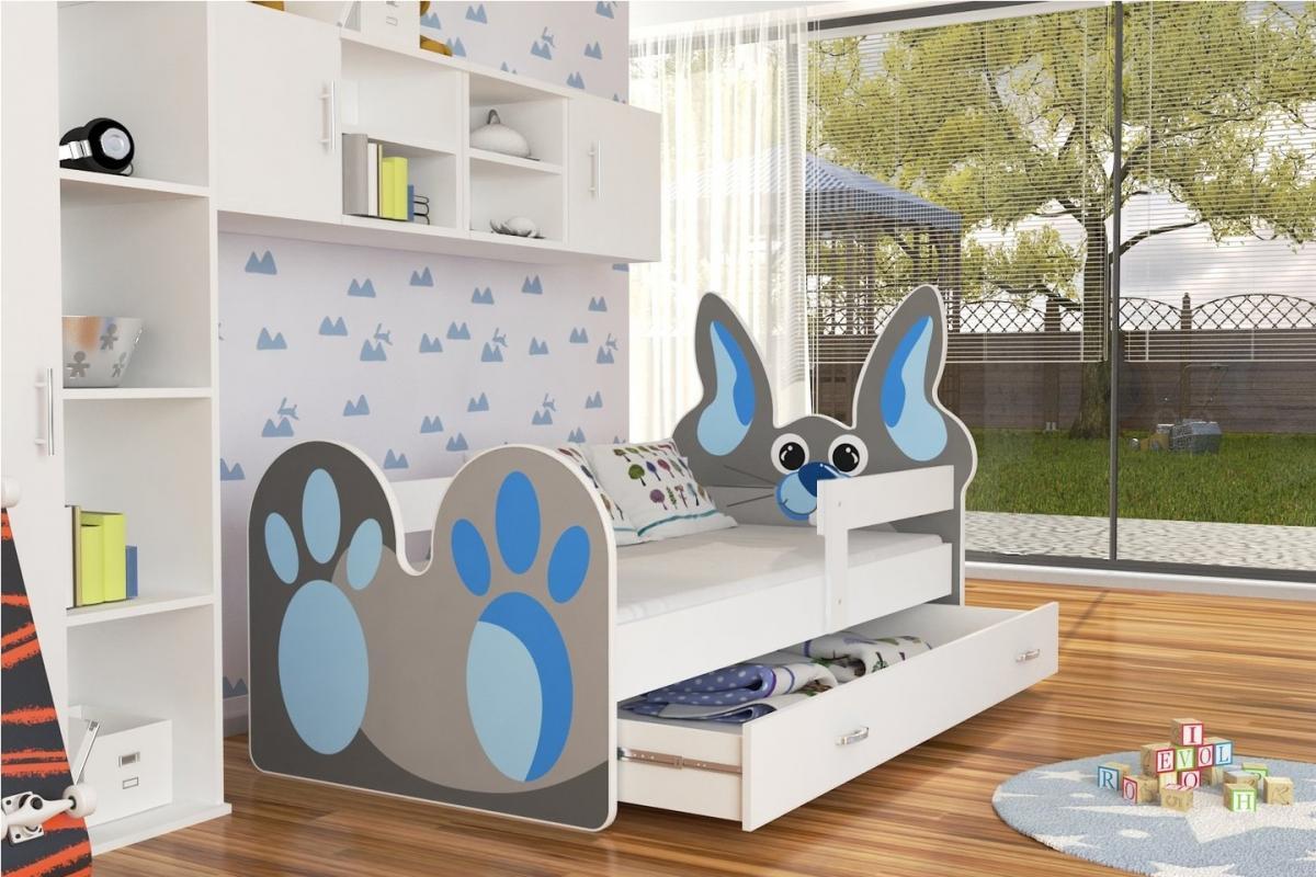 Bunny leesésgátlós gyerekágy ágyneműtartóval