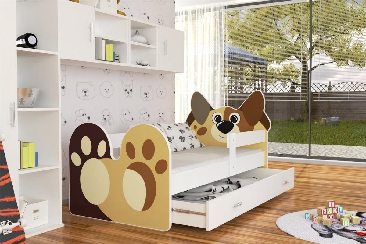 Doggy leesésgátlós gyerekágy ágyneműtartóval