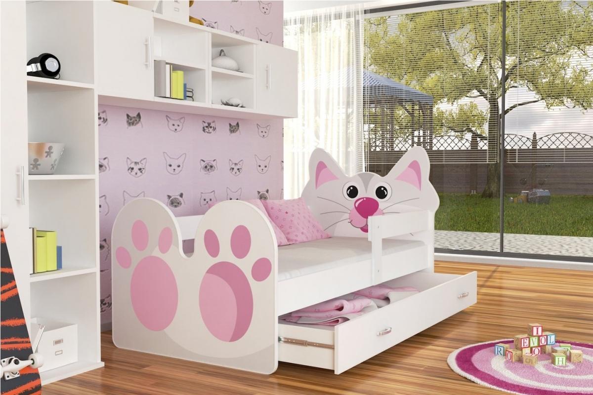 Kitty leesésgátlós gyerekágy ágyneműtartóval