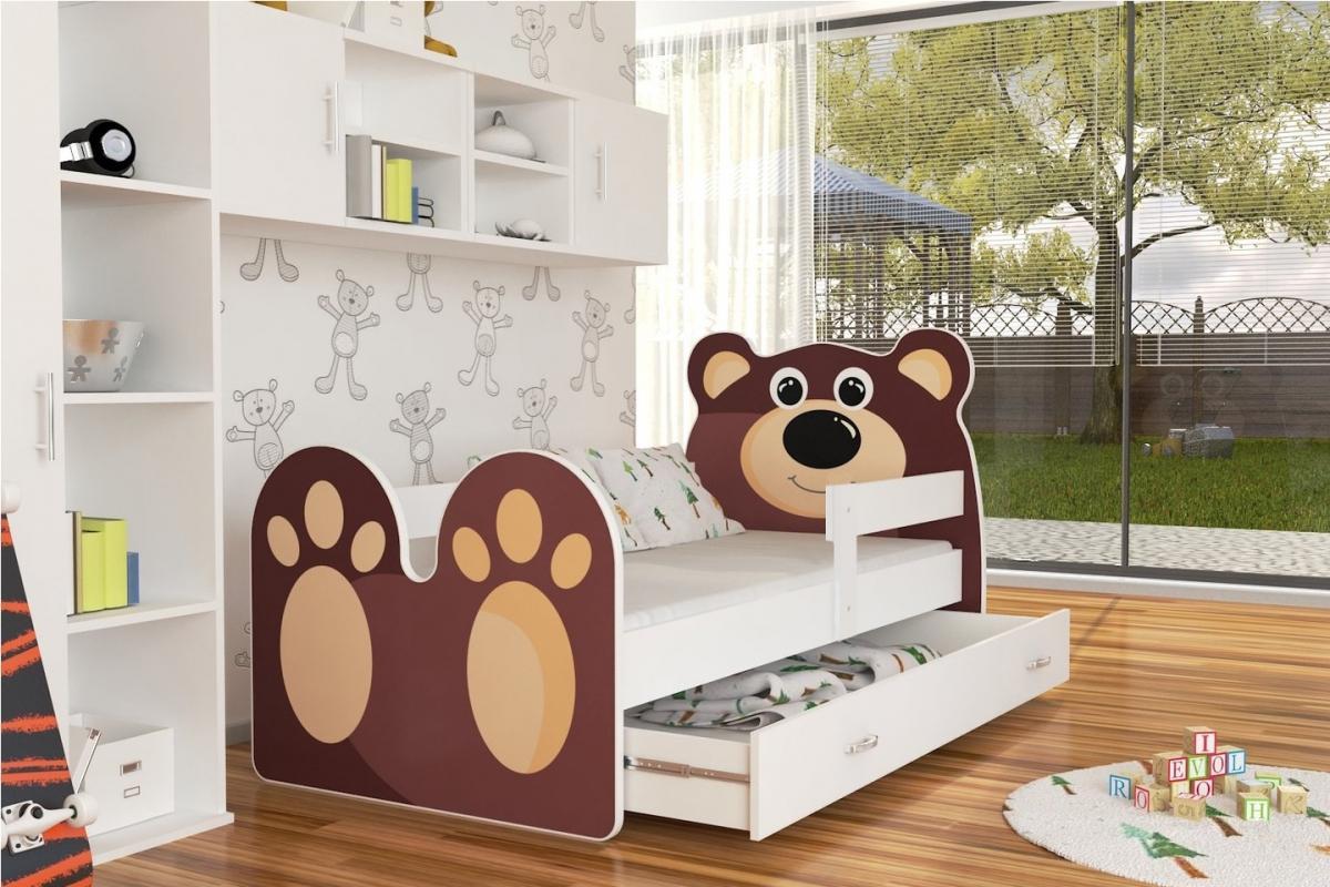 Teddy leesésgátlós gyerekágy ágyneműtartóval