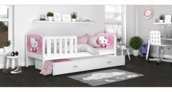 Tony1 MDF Színes leesésgátlós gyerekágy ágyneműtartóval 3.Kép
