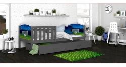Tony1 MDF Színes leesésgátlós gyerekágy ágyneműtartóval 8.Kép