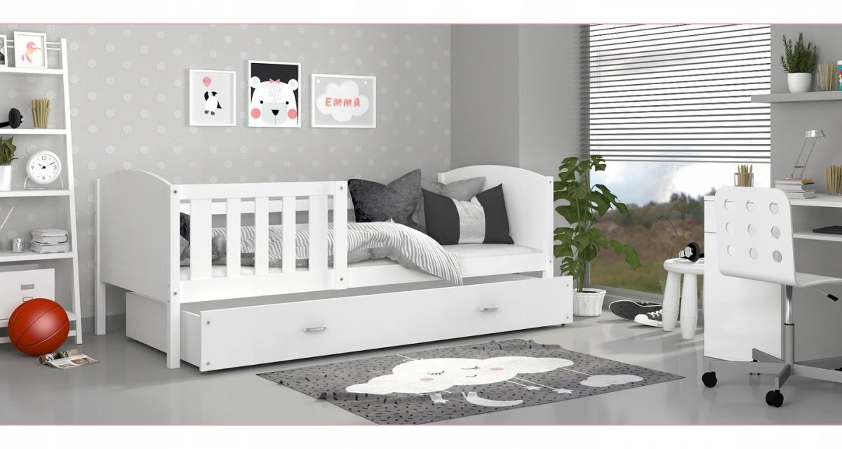 Tony1 MDF Színes leesésgátlós gyerekágy ágyneműtartóval