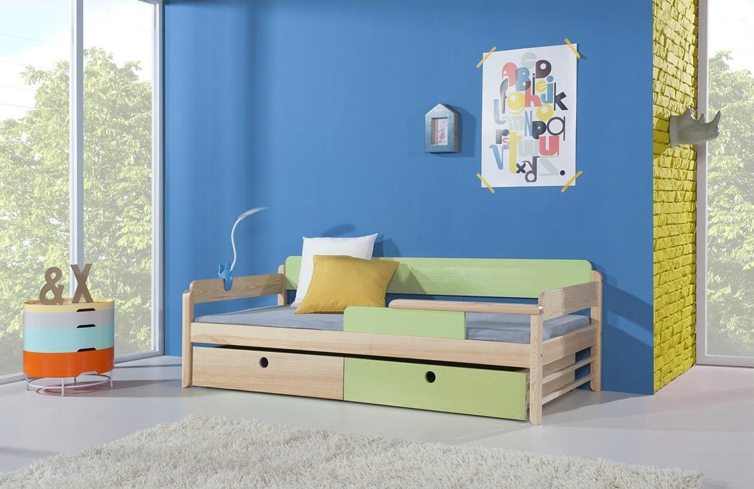 NATI tömör fa leesésgátlós gyerekágy ágyneműtartóval