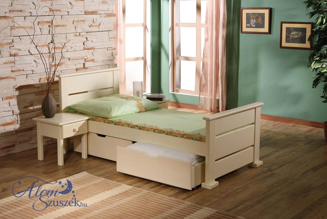 OKTAVIA tömör fa gyerekágy ágyneműtartóval