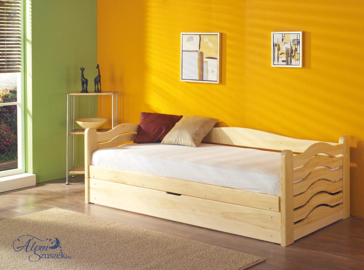 OLGA tömör fa gyerekágy felfelé nyíló ágyneműtartóval