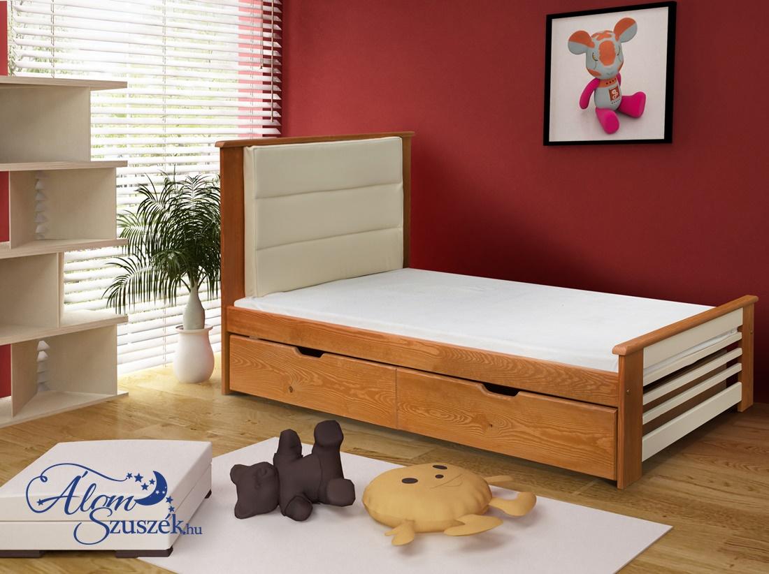 AMELIA tömör fa gyerekágy ágyneműtartóval