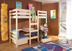 BARI átalakítható emeletes gyerekágy matraccal ágyneműtartóval 3.Kép