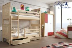 BRUNO tömör fa emeletes gyerekágy ágyneműtartóval 4.Kép