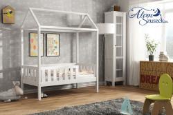 KUCKO ház alakú tömör fa leesésgátlós gyerekágy matraccal 2.Kép