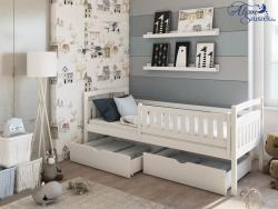 PAULA tömör fa leesésgátlós gyerekágy ágyneműtartóval 3.Kép