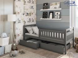 PAULA tömör fa leesésgátlós gyerekágy ágyneműtartóval 4.Kép