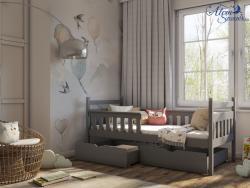 EMMA tömör fa leesésgátlós gyerekágy ágyneműtartóval 5.Kép