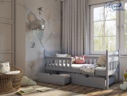 EMMA tömör fa leesésgátlós gyerekágy ágyneműtartóval 6.Kép