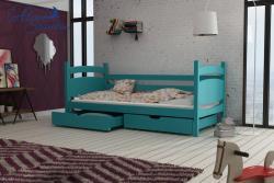 ANDY tömör fa leesésgátlós gyerekágy ágyneműtartóval 9.Kép