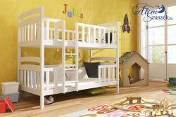 FRANKLIN tömör fa emeletes gyerekágy matraccal eltolt feljárattal 2.Kép