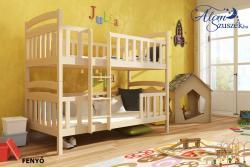 FRANKLIN tömör fa emeletes gyerekágy matraccal eltolt feljárattal 3.Kép