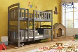 FRANKLIN tömör fa emeletes gyerekágy matraccal eltolt feljárattal 4.Kép