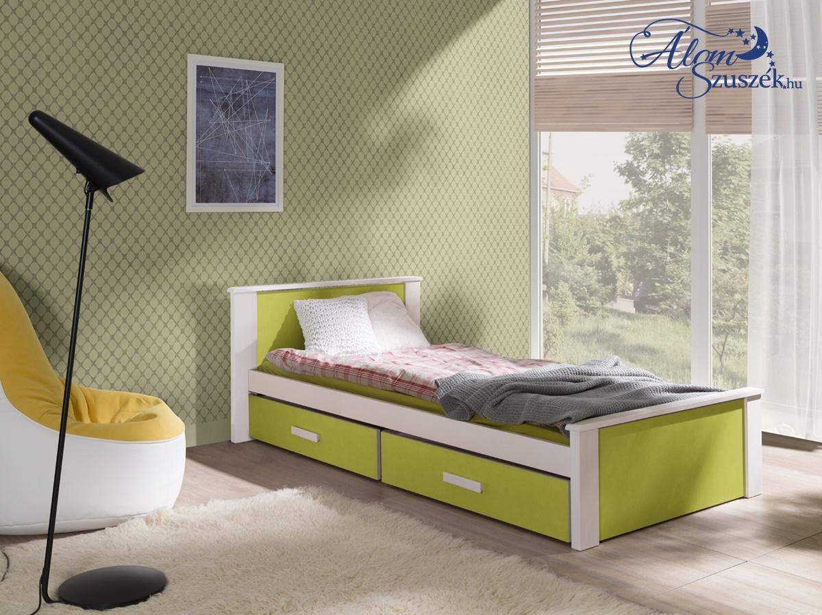 ALDO bútorlappal kombinált tömör fa gyerekágy ágyneműtartóval
