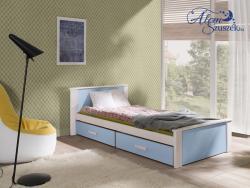 ALDO bútorlappal kombinált tömör fa gyerekágy ágyneműtartóval 2.Kép