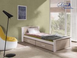 ALDO bútorlappal kombinált tömör fa gyerekágy ágyneműtartóval 3.Kép