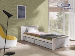 ALDO bútorlappal kombinált tömör fa gyerekágy ágyneműtartóval 4.Kép