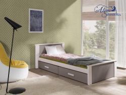 ALDO bútorlappal kombinált tömör fa gyerekágy ágyneműtartóval 5.Kép