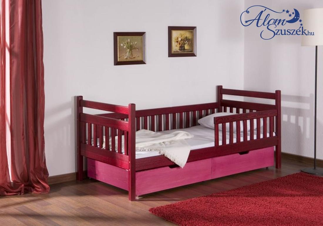 ALI tömör fa leesésgátlós gyerekágy ágyneműtartóval
