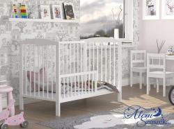 ADA cserélhető korlátos babaágy ágyneműtartóval 1.Kép