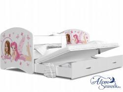 LUCKY 2 leesésgátlós kétszemélyes gyerekágy ágyneműtartóval 3.Kép