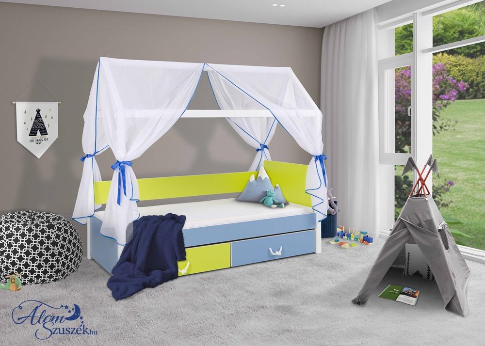 OFELIA 2 házikó alakú gyerekágy ágyneműtartóval