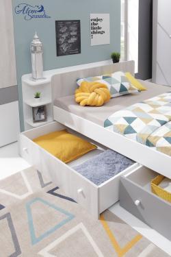 COMO gyerekágy ágyneműtartóval 9.Kép